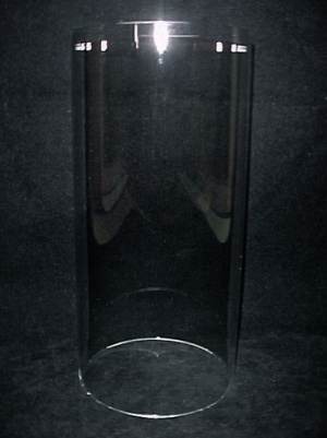 Cylinder 3 9/16 X 8 in Tube Light Lamp Shade Glass Candle Holder  (Image1)