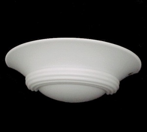 Vianne Glass Light Shade White Satin Art Deco Half Slip Wall Sconce (Image1)