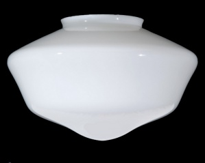 Schoolhouse Ceiling Light Globe Shade 6 X 14 White Glass Pendant Large