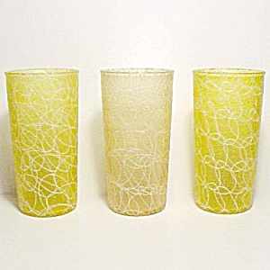 3 Color Craft Shat-r-pruf Spaghetti String Tumblers