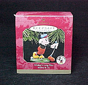 1997 Hallmark Mickey's Mouse Long Shot Christmas Tree Ornament Holiday (Image1)