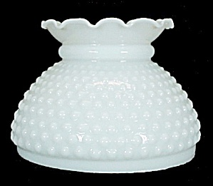 White Milk Glass Hobnail Student 6 in Oil Lamp Shade (Image1)