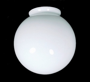 Ball White Glass 3.25 X 6 Ceiling Fan Light Globe Shade AS IS (Image1)