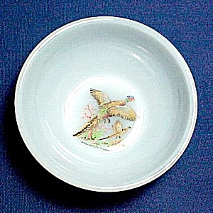 Anchor Hocking Fire King Wild Game Bird Cereal Bowl
