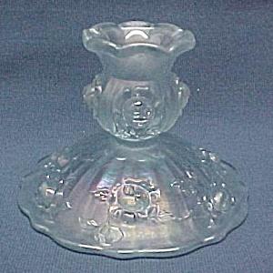 Fenton Roses Blue Velvet Candle Holder Candlestick (Image1)