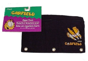 Garfield Paws Mead Zipper Pencil Pouch Black Nylon New