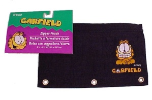 Mead Zipper Pencil Pouch Garfield Paws Black Nylon New (Image1)