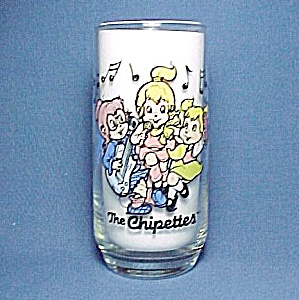 1985 Libbeys Glass Tumbler The Chipettes Alvin Chipmunk