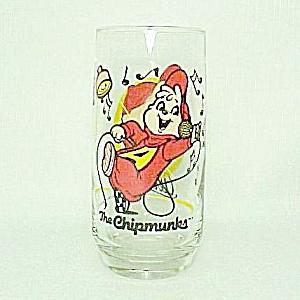 Alvin The Chipmunks Drinking Glass Tumbler Vintage 1985 (Image1)
