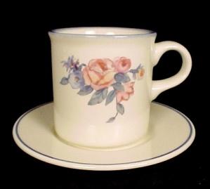Pfaltzgraff GateHouse Dinnerware Cup Flat Mug & Saucer (Image1)