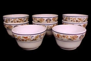 8 Syracuse China Old Ivory Restaurant Ware Custard Cups Vintage (Image1)