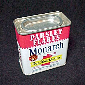 Monarch Parsley Flakes Spice Advertising Tin Vintage