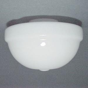 Blown Art Deco Glass Schoolhouse Light Globe Shade 4 X 6.5X 11 White (Image1)