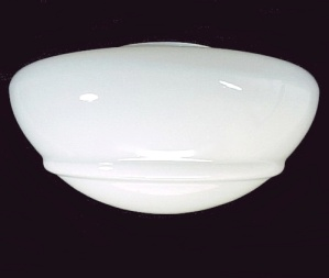 Art Deco White Glass Ceiling Fan Light Shade 4 X 5.5 X 10 Dome Globe (Image1)