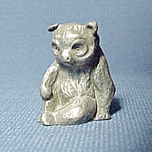 Pewter Bear Miniature Wild Animal Figurine Figure