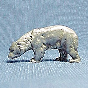 Pewter Bear Miniature Figurine Wild Animal Figure (Image1)