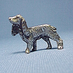 Metal Dog Miniature Figurine Animal Figure  Setter  (Image1)