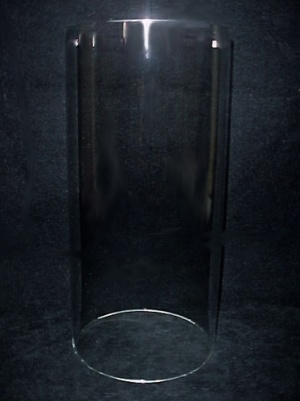 Glass 4 X 8 Tube Cylinder Candle Holder Light Lamp Shade (Image1)