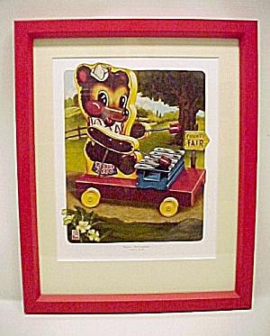 Fisher Price Toy Teddy Xylophone Ltd Ed Nursery Print (Image1)