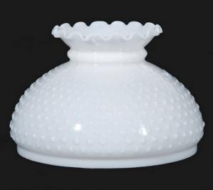 Milk White Glass Hobnail 10 in Student Lamp Shade Globe (Image1)