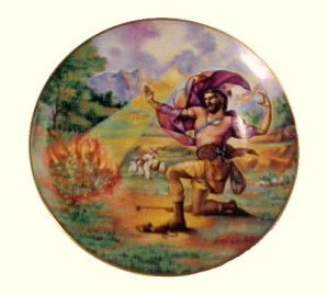 Religious China Collector  Vintage Plate Christian 1980 (Image1)