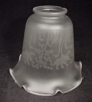 Satin Floral Chandelier Wall Fixture 2 1/8 Light Shade (Image1)