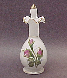 Moss Rose Porcelain China Perfume Bottle Vintage Japan. (Image1)