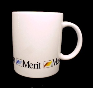 Vintage Merit Cigarette Coffee Mug Cup Porcelain China