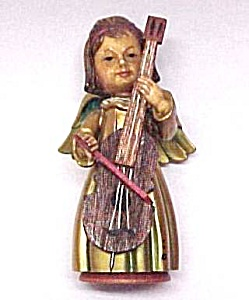 ANRI Gold Gilt Angel 3 1/2 inch Figurine w/ Cello (Image1)