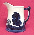 Click to view larger image of Old Sleepy Eye Cobalt Blue & White 9 inch #5 Pitcher (Image1)