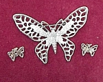 Sarah Coventry Butterfly Brooch Pin w Earrings Vintage