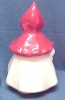 Click to view larger image of Pottery Little Red Riding Hood Cookie Jar Vintage Reproduction (Image2)