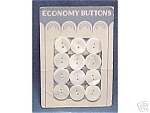 Click here to enlarge image and see more about item 158: 2 Cards - Vintage MOP Mother of Pearl 1/2 inch Buttons