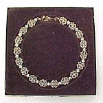 Click to view larger image of Avon Gold Tone Diamond and Lace 16 inch Choker Necklace (Image1)