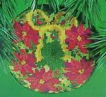 Click here to enlarge image and see more about item 18698: 1984 Hallmark Needlepoint Wreath Christmas Ornament Tree