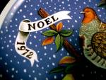 Click to view larger image of JC Penney 1972 NOEL Christmas Plate Partridge Pear Tree (Image2)
