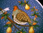 Click to view larger image of JC Penney 1972 NOEL Christmas Plate Partridge Pear Tree (Image3)