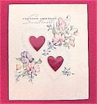 Click here to enlarge image and see more about item 241: Vintage 1940s Valentine Day Card Sweetheart Love Heart