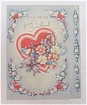 Vintage 1940 Valentine Day Card Sweetheart Love Heart