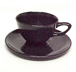 Click here to enlarge image and see more about item 26758: Monterey Black Cup & Saucer California Pottery