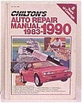 Click here to enlarge image and see more about item 288: Chilton's Auto Repair Manual 1983-1990 - Hardbound