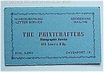 Click here to enlarge image and see more about item 29800: Vintage Davenport Iowa IA Ink Blotter - Printcrafters