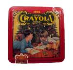 Click here to enlarge image and see more about item 31128: 1992 Crayola Advertising Tin Bear Ornament New n Wrap