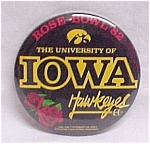Click here to enlarge image and see more about item 31875: 1982 University of Iowa IA Hawkeyes Rose Bowl Pinback Badge