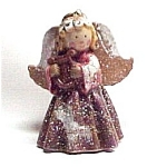 Click here to enlarge image and see more about item 325: Porcelain Angel w/ Harp Christmas Tree Ornament
