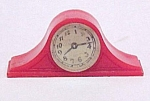 Click here to enlarge image and see more about item 32611: Renwal Red Mantel Clock #14 Toy Dollhouse Furniture USA