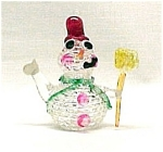 Click here to enlarge image and see more about item 327: Blown Glass Snowman Christmas Ornament Snow Man