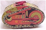 Click here to enlarge image and see more about item 33368: Louis Marx  U.S. Army Tank #3 Windup Wind Up Tin Toy Vintage Military