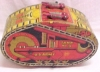 Click to view larger image of Louis Marx  U.S. Army Tank #3 Windup Wind Up Tin Toy Vintage Military (Image2)