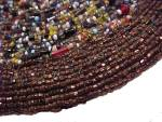 Click to view larger image of Czech Beaded Trivet Czechoslovakia Seed Beads Hand Made (Image2)